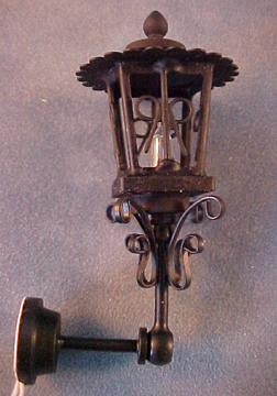 Anitque Black Coach Lamp 1:12 scale