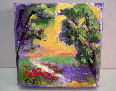Carol Landry Fine Art Original Winding Road Landscape Painting 1:12 scale