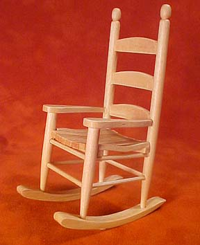 Oak Ladder Back Rocker 1:12 scale