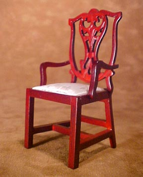 Townsquare Chippendale Arm Chair 1:12 scale