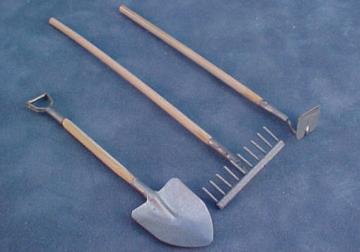 Garden Tools 1:12 scale