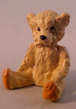Tan Resin Teddy Bear 1:12 scale