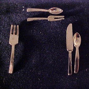Single Flatware Place Setting 1:12 scale