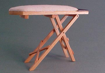 Pine Ironing Board 1:12 scale