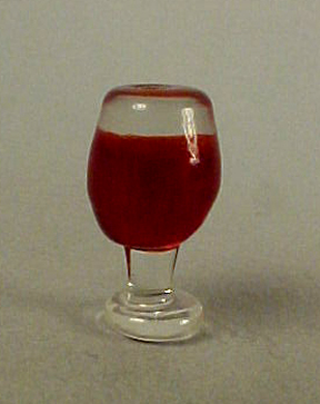 Glass Of Red Wine 1:12 scale