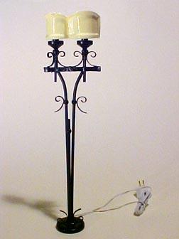 Ambassador Wrought Iron Floor Lamp 1:12 scale