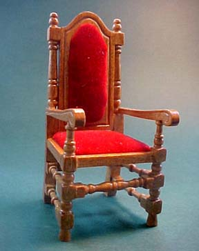 Dijon William and Mary Arm Chair 1:12 scale