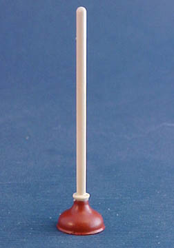Miniature Island Crafts Bathroom Plunger 1:12 scale
