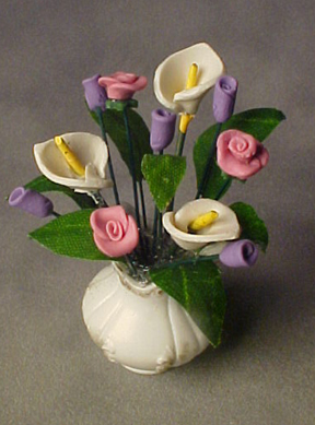 Doll House Shoppe Cala Lilies and Roses 1:12 scale