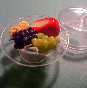 Cheese Tray with Glass Dome 1:12 scale