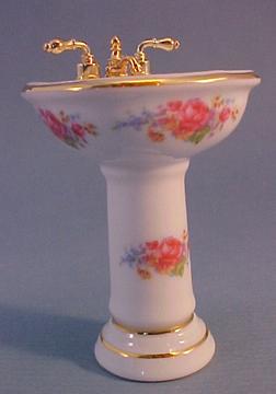Reutter Dresden Rose Pedestal Sink 1:12 scale