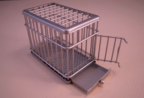 Dog Crate 1:24 Scale Dollhouse Miniature