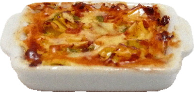 Lasagna In A Ceramic Pan 1:12 scale