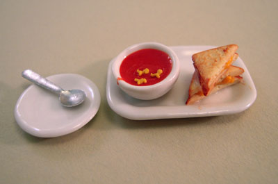 Tomato Soup Set 1:12 scale