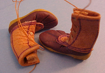 Maine Hunting Boots 1:12 scale