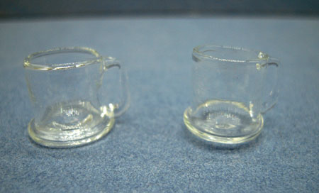 Falcon Collectible Miniatures Pair Of Glass Mugs 1:12 scale