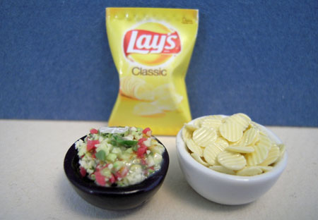 Chips and Guacamole Dollhouse Miniature 1:12 scale