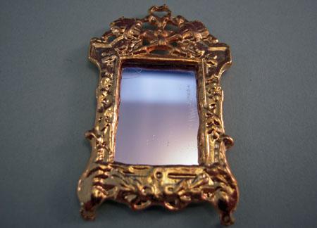 Gold Fancy Framed Wall Mirror 1:24 scale
