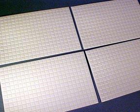 Faux Tile Flooring 1:24 scale