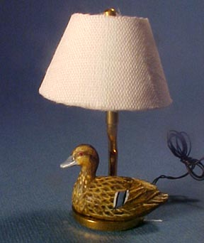 Female Mallard Table Lamp 1:12 scale