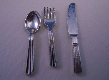 By Barb Silver Flatware Set 1:12