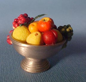 Fruit in a Footed Compote 1:12 scale