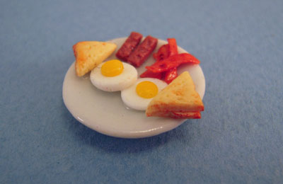Bright deLights Egg Breakfast Plate 1:24 scale