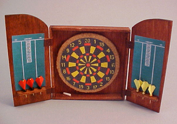 Amy Robinson Handcrafted Pub Dart Set 1:12 scale