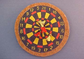 Dart Board with Darts 1:12 scale