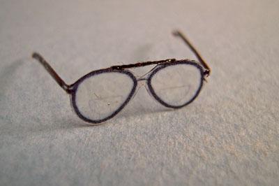 Alice Zinn Handcrafted Aviator Eye Glasses 1:12 scale