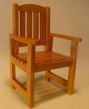 Teak Garden Chair 1:12 scale