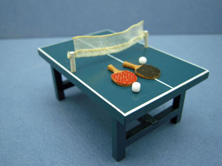 Toy Ping Pong Table Set 1:24 scale