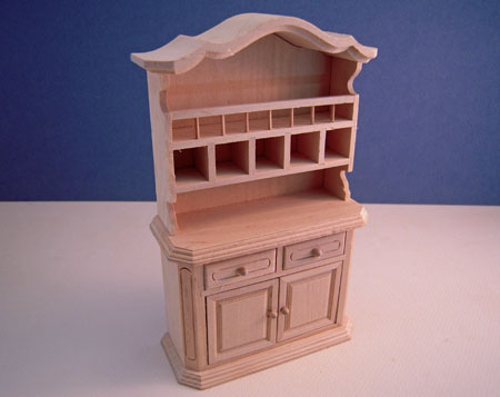 Unfinished Country Buffet Dollhouse Miniature 1:12 scale
