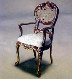 Bespaq Miniature Half Portia Arm Chair 1:24 scale