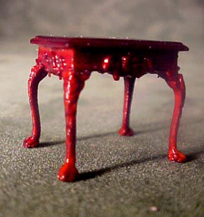 Bespaq Miniature Mahogany Thomas End Table 1:24 scale
