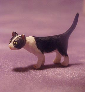 Falcon Miniature Curious Black and White Cat 1:24 scale