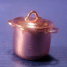 Falcon Copper Pot with Lid 1:24 scale