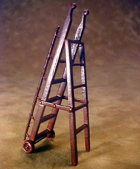 Bespaq Mahogany Gallery Library Ladder 1:24 scale