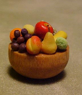 All Through The House Miniature Bowl of Fresh Fruit 1:12 scale