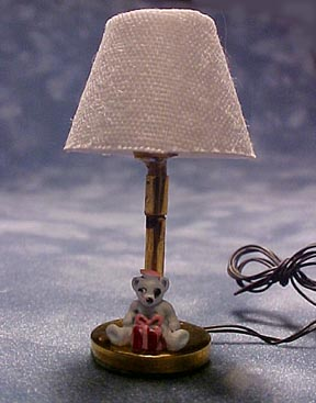 TEC Miniature Teddy Bear Table Lamp 1:24 scale