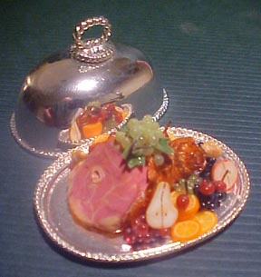 Ham On A Silver Tray 1:12 scale