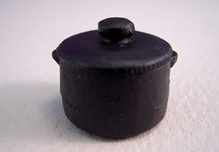 Bauder Pine Black Iron Cooking Pot 1:24 scale