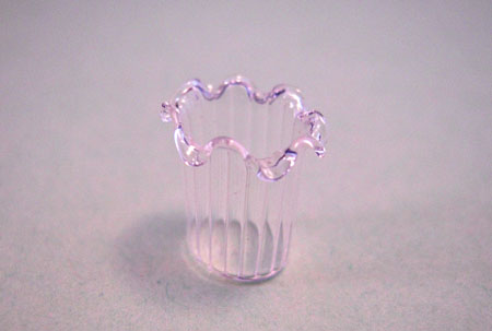 Bright deLights Fluted Ridged Glass Vase 1:24 Scale