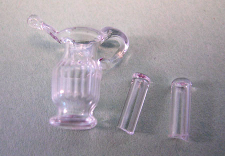 Bright deLights Decorative Glass Pitcher and Two Glasses 1:24