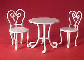 Townsquare Ice Cream Parlor Table Set 1:24 scale