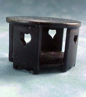 International Dollhouse Miniatures Black Contemporary Coffee Table 1:24 scale
