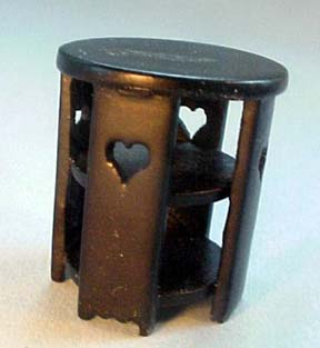 International Dollhouse Miniatures Black Contemporary End Table 1:24 scale