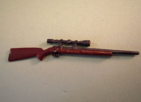 Miniature Rifle With Scope 1:24 scale