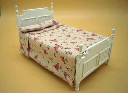 JBM Single White Bed 1:12 scale