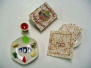 By Barb Passover Sedar Plate Set 1:12 scale